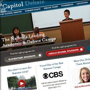 <h2><a href='http://www.capitoldebate.com' target='_blank'>Capitol Debate</a></h2><br/>Responsive Design, Custom Programming, HTML5